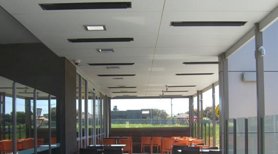 Restaurant With Recessed Heaters