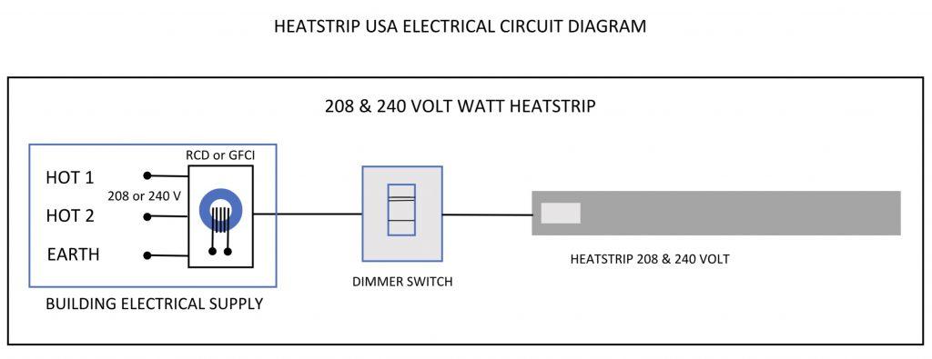 heatstrip diagram for 208 and 240 volt watt 1